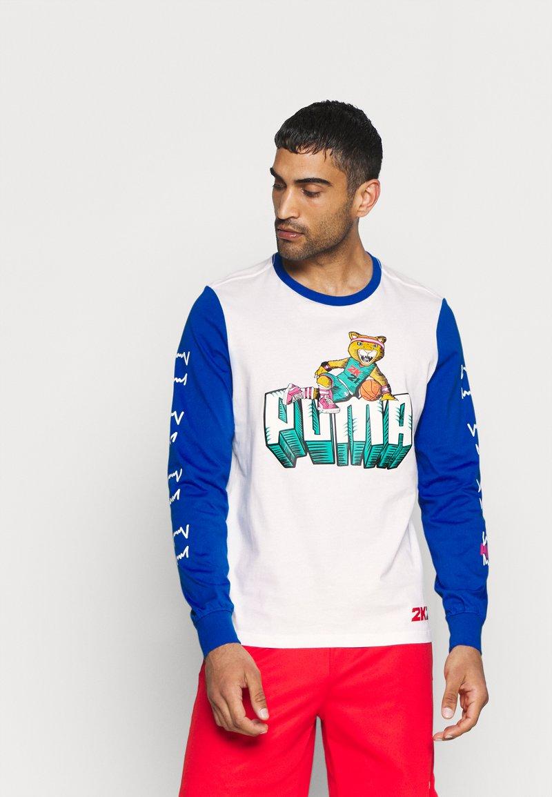 Puma - NBA 2K LONG SLEEVE - Long sleeved top - white