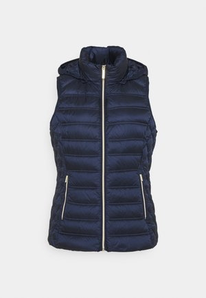 CHEVRON QUILTED PACKABLE VEST - Waistcoat - midnightblue