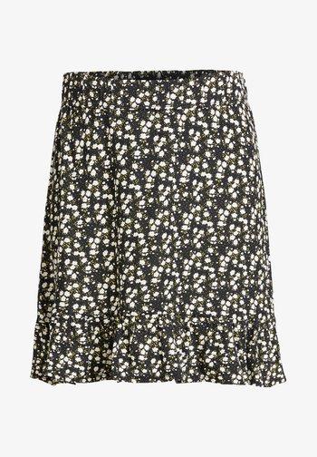 MET BLOEMENDESSIN - A-line skirt - black