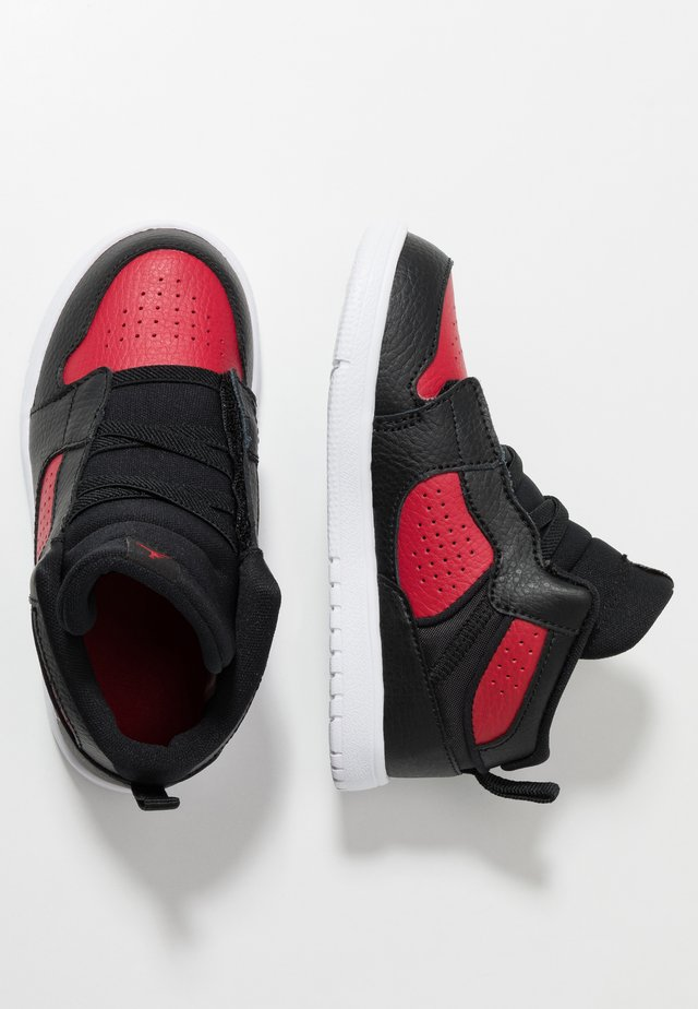 ACCESS - Basketball shoes - black/gym red/white