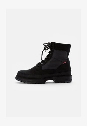TORSTEN QUILTED - Lace-up ankle boots - full black