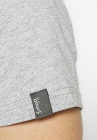 Schott - LOGO 2 PACK - Print T-shirt - black/heather grey - 6