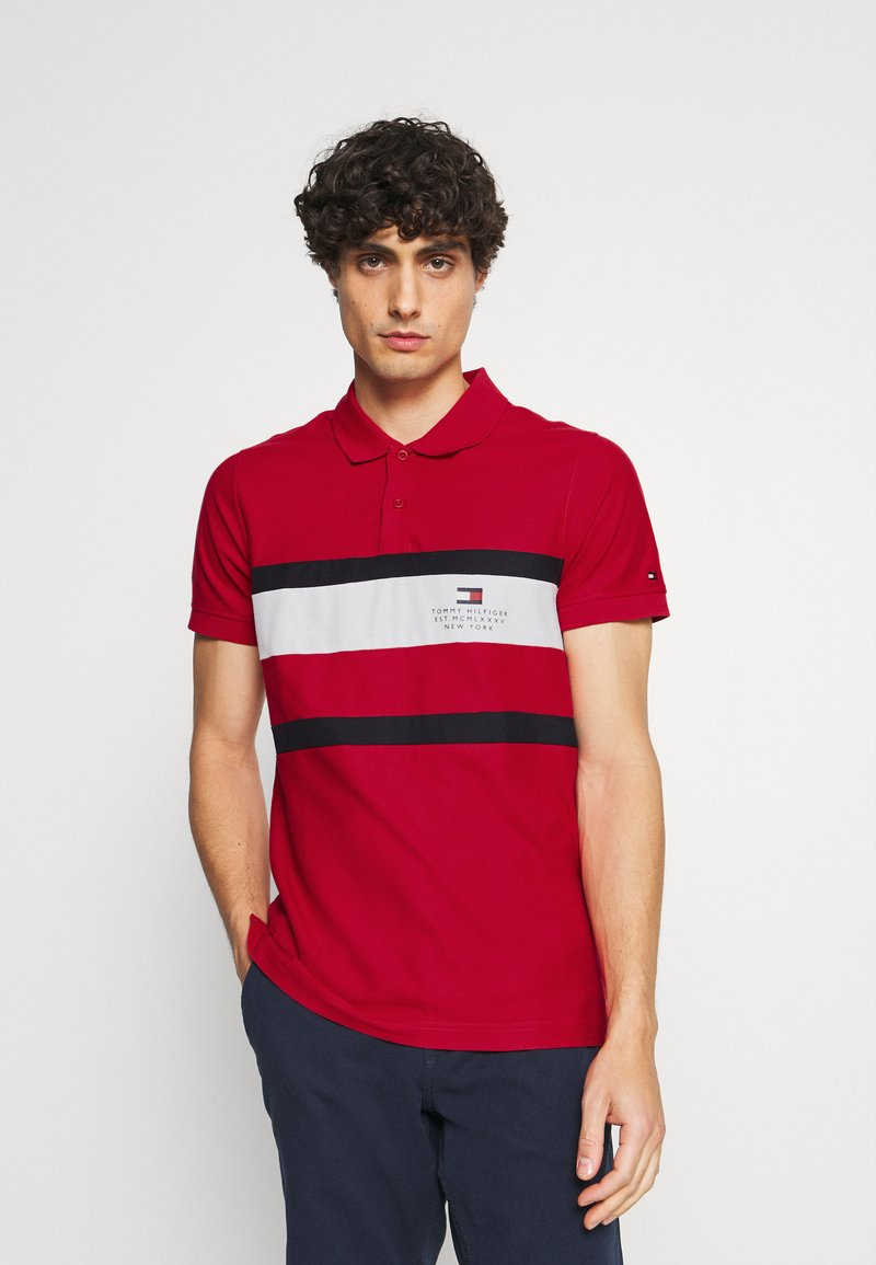 Tommy Hilfiger - CHEST STRIPE  - Polo shirt - primary red