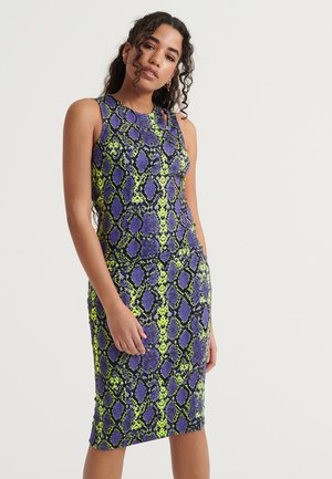 Day dress - neon snake print