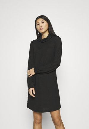 TURTLENECK DRESS - Jumper dress - true black