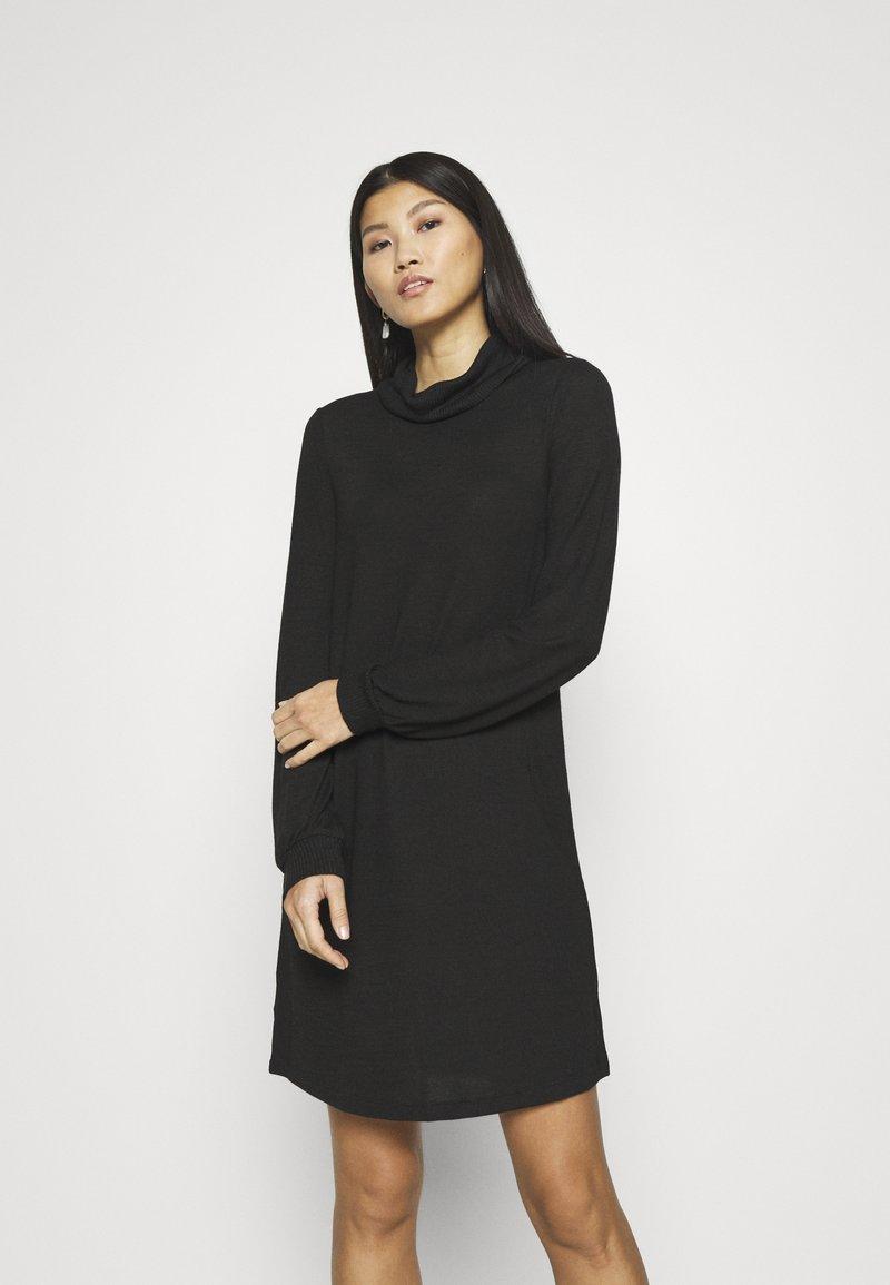 GAP - TURTLENECK DRESS - Jumper dress - true black