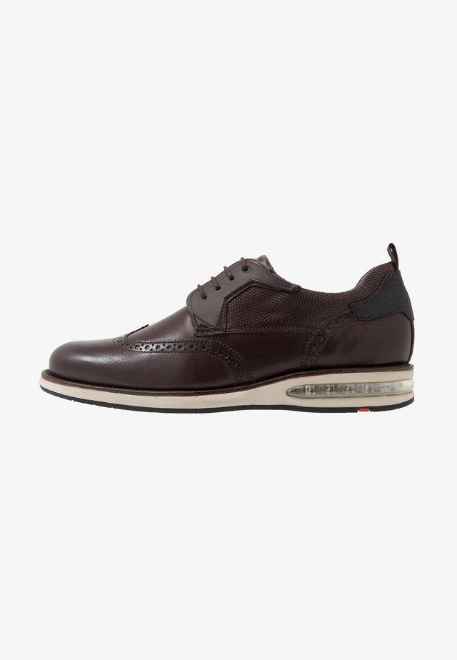 AVERELL - Zapatos con cordones - testa di moro/schwarz