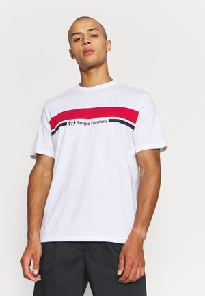 ANISE - Print T-shirt - white/red