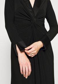 Adrianna Papell - TWIST TUXEDO GOWN - Jersey dress - black - 7