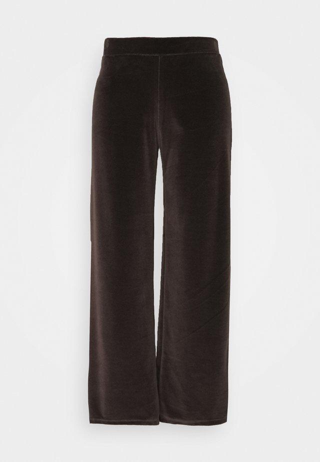 NMABBY PANT - Pantaloni - chocolate brown