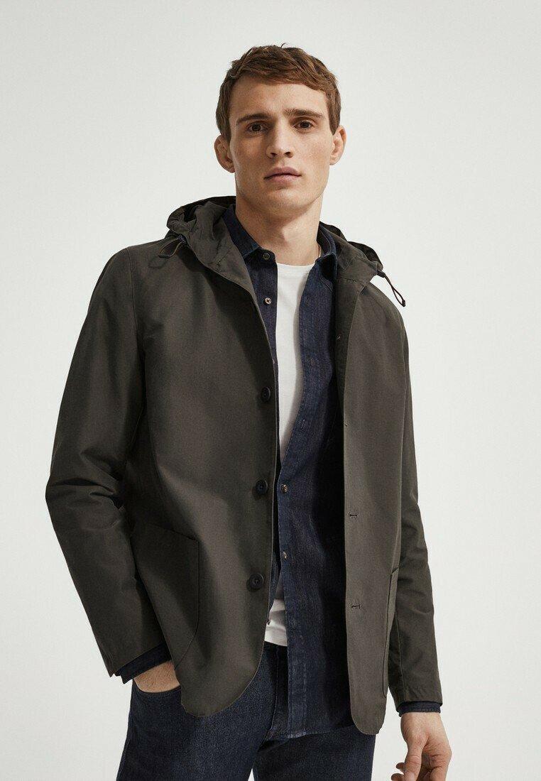 Massimo Dutti - MIT KAPUZE  - Summer jacket - khaki
