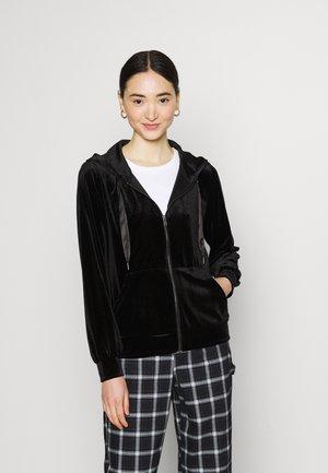 VIVELVETTA ZIP HOODIE - Zip-up hoodie - black