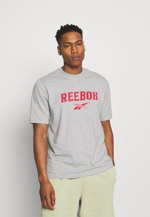 SOFT EDGE LINEAR TEE - T-shirt con stampa - medium grey heather