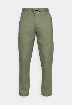 ELASTIC WAIST PANTS - Pantaloni - army
