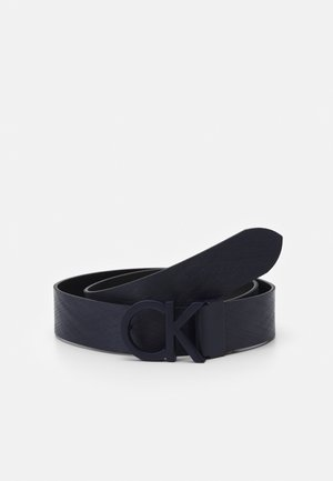 BUCKLE TEXTURED  - Belt - blue