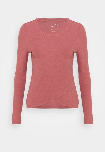WRAP FRONT - Maglietta a manica lunga - cosmetic pink