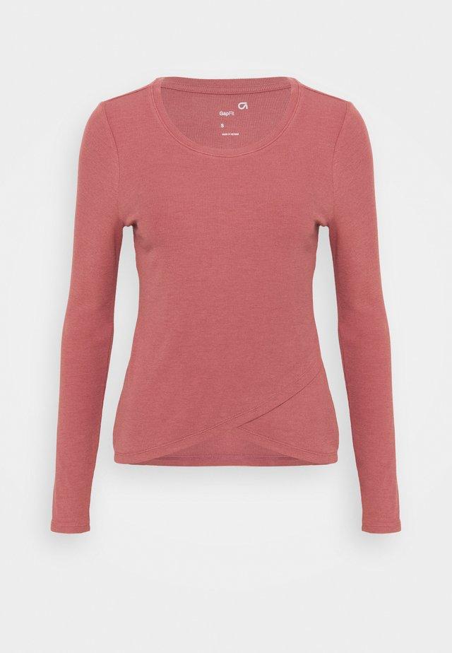 WRAP FRONT - Top sdlouhým rukávem - cosmetic pink