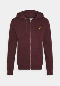 Zip-up hoodie - mottled bordeaux