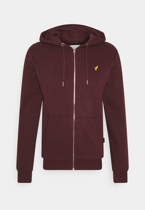 Zip-up hoodie - mottled bordeaux