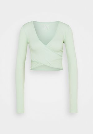 SEAMLESS BALET WRAP - Long sleeved top - sage