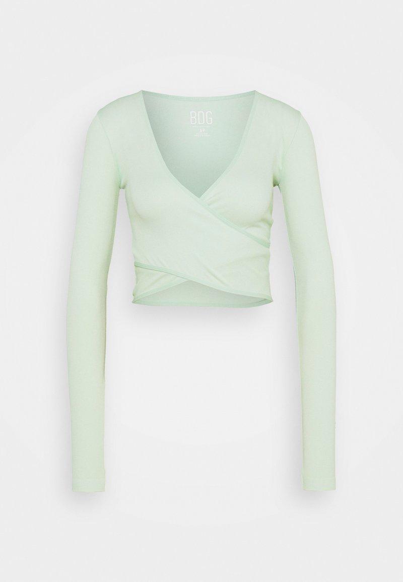 BDG Urban Outfitters - SEAMLESS BALET WRAP - Top sdlouhým rukávem - sage