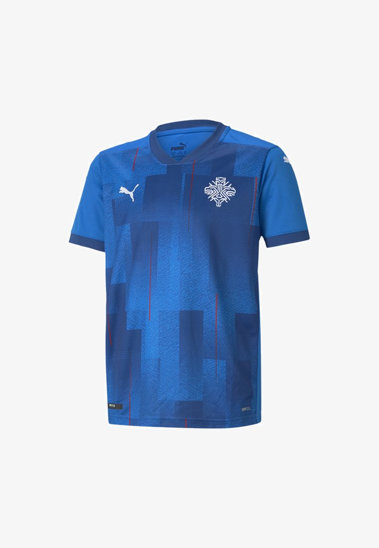 Puma - ICELAND HOME REPLICA - Print T-shirt - electric blue lemonade