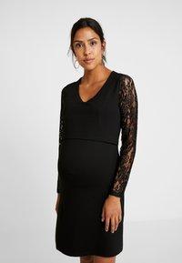 LOVE2WAIT - DRESS PONTE NURSING - Cocktailklänning - black - 0