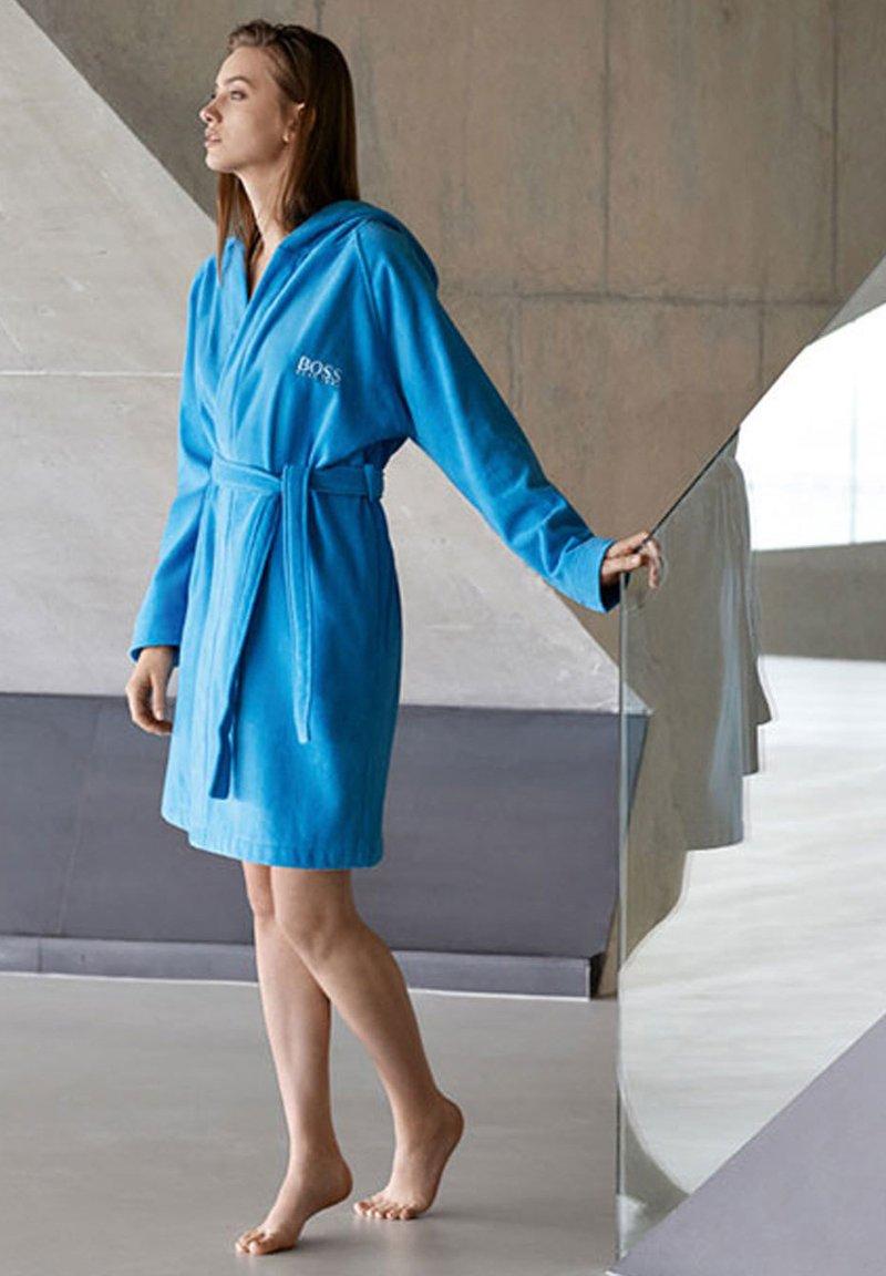 BOSS Home - PLAIN - Dressing gown - pool