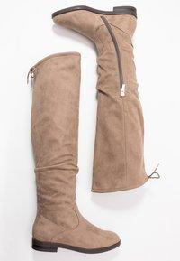Tamaris - Kozačky nad kolena - beige - 3