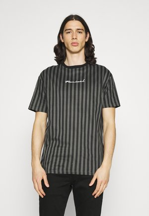 STRIPE TEE - Print T-shirt - black