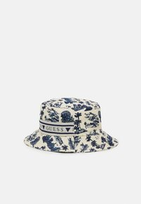 Guess - BUCKET HAT UNISEX - Hat - white/blue - 1