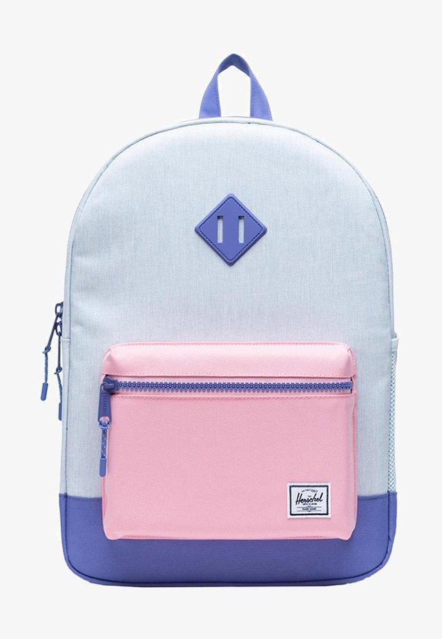 School bag - ballad blue pastel crosshatch/candy pink/dusted peri