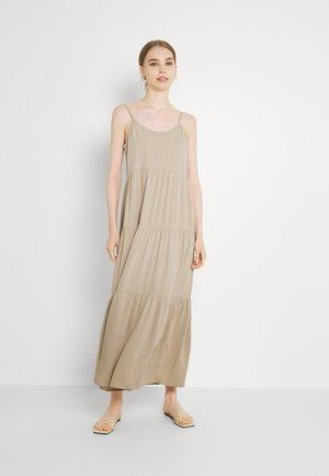 CAMI STRAP TIERED DRESS - Maxi dress - beige