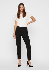 Vero Moda - VMMAYA LOOSE SOLID PANT  - Trousers - black