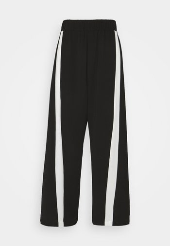 MOMENT PANTS - Kalhoty - black/white
