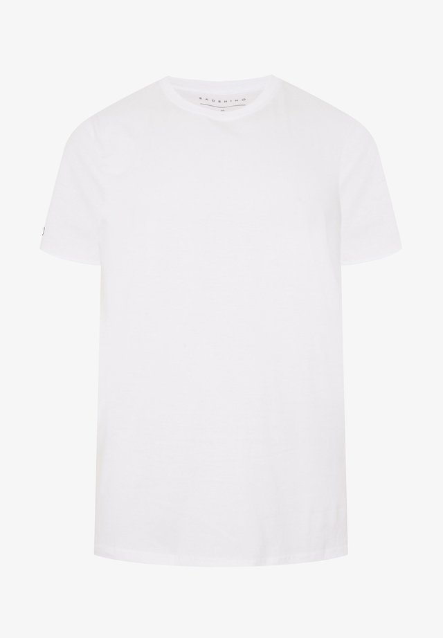 WHITE EMBROIDERED LOGO - Basic T-shirt - white