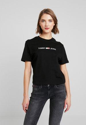 LINEAR LOGO DETAIL TEE - Basic T-shirt - black