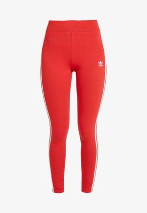 Leggings - lush red/white