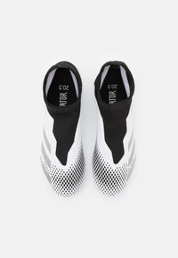 adidas Performance - PREDATOR  FOOTBALL BOOTS FIRM GROUND UNISEX - Moulded stud football boots - footwear white/silver metallic/core black - 3