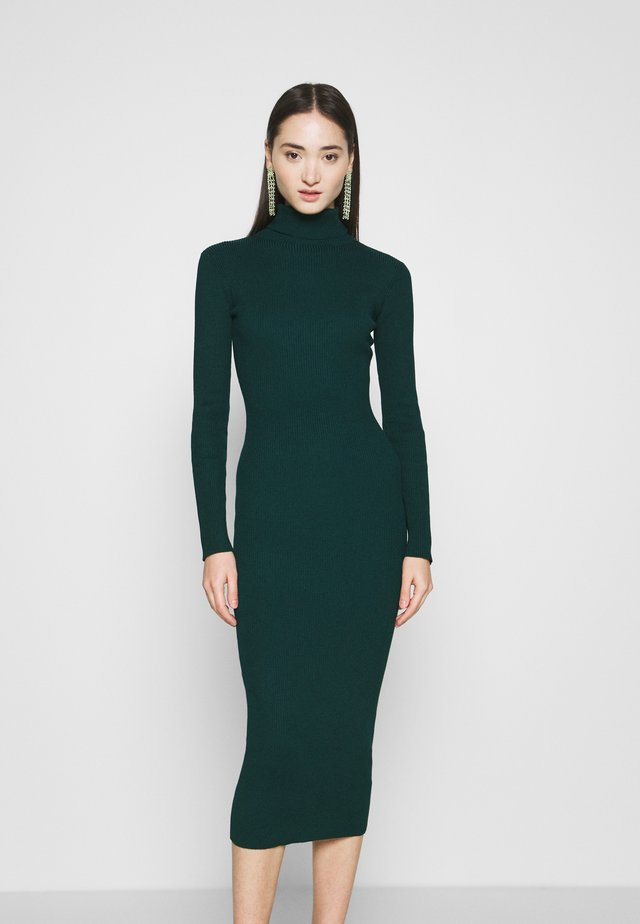 ROLL NECK MIDI DRESS - Jumper dress - forest green