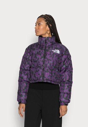 PRINTED NUPTSE SHORT JACKET - Down jacket - gravitypurple