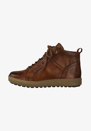 SNEAKER - Sneakers high - dk cognac napp