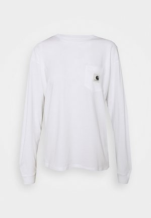 POCKET - Long sleeved top - white