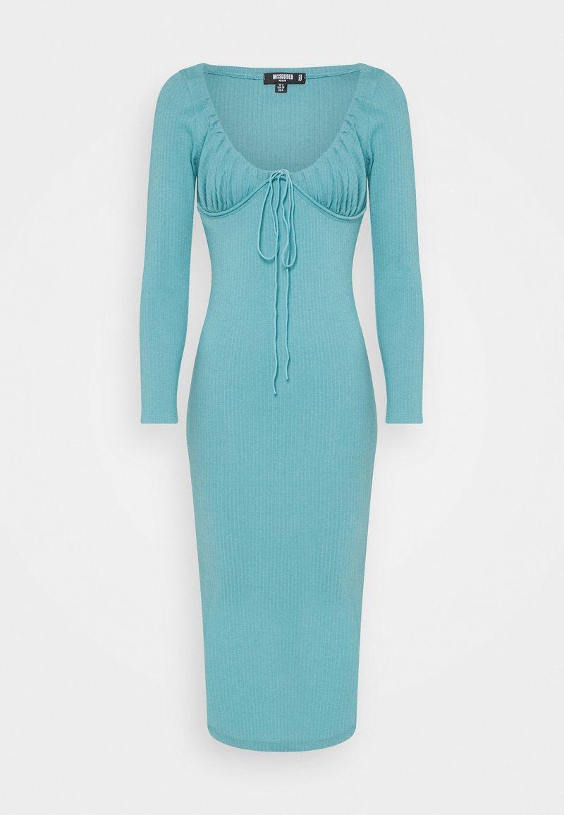 Missguided Petite - DRAWSTRING TIE BUST MIDAXI DRESS - Etui-jurk - blue