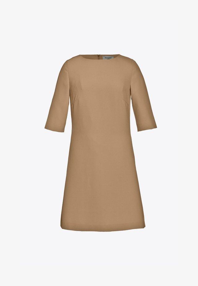 Korte jurk - camel