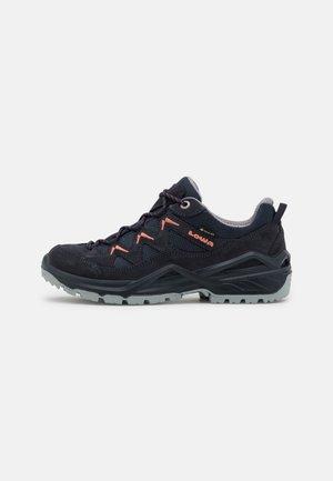 SIRKOS EVO GTX - Hiking shoes - navy/lachs