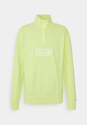 TONAL LOGO ZIP MOCK UNISEX - Sweatshirt - faded lime