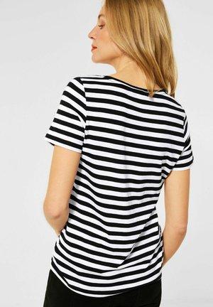 MIT STREIFEN MUSTER - Print T-shirt - schwarz