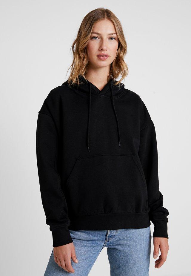 ALISA HOODIE - Bluza z kapturem - black