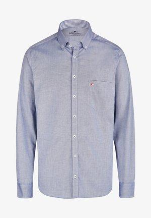 OXFORD HERREN LANGARM - Shirt - blau